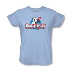 Chilly Willy - Womens Logo T-Shirt In Light Blue
