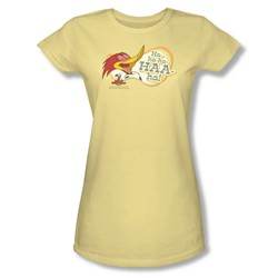 Woody Woodpecker - Womens Famous Laugh T-Shirt In Banana
