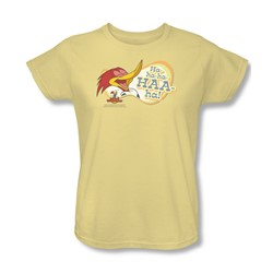 Woody Woodpecker - Womens Famous Laugh T-Shirt In Banana