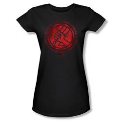 Hellboy Ii - Womens Bprd Logo T-Shirt In Black