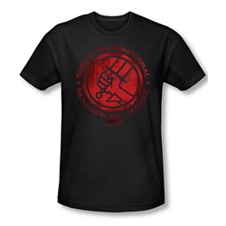 Hellboy Ii - Mens Bprd Logo T-Shirt In Black