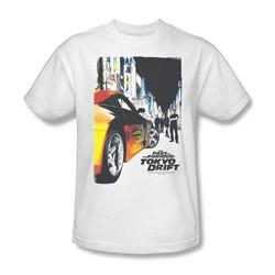 Tokyo Drift - Mens Poster T-Shirt In White