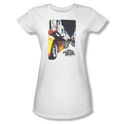 Tokyo Drift - Womens Poster T-Shirt In White