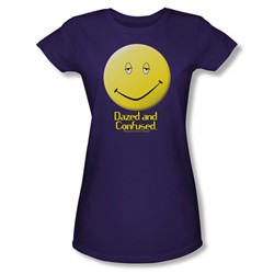 Dazed And Confused - Womens Dazed Smile T-Shirt In Purple