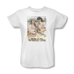 Fast Times Ridgemont High - Womens Fast Carrots T-Shirt In White