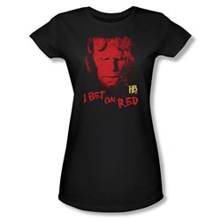 Hellboy Ii - Womens I Bet On Red T-Shirt In Black