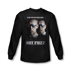 Hot Fuzz - Mens Big Cops Long Sleeve Shirt In Black