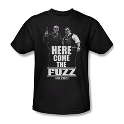 Hot Fuzz - Mens Here Come The Fuzz T-Shirt In Black