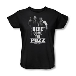 Hot Fuzz - Womens Here Come The Fuzz T-Shirt In Black