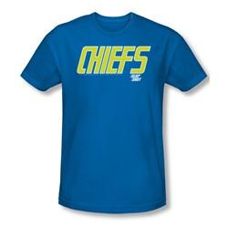 Slap Shot - Mens Chiefs Logo T-Shirt In Royal