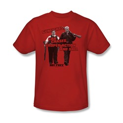 Hot Fuzz - Mens Day'S Work T-Shirt In Red
