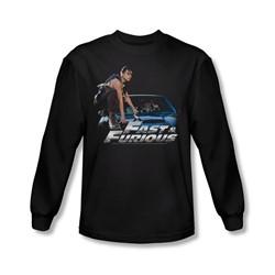 Fast & Furious - Mens Car Ride Long Sleeve Shirt In Black