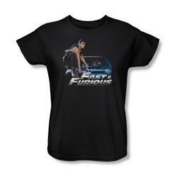 Fast & Furious - Womens Car Ride T-Shirt In Black
