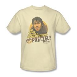 Mallrats - Mens Pretzels T-Shirt In Cream