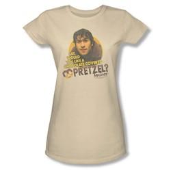 Mallrats - Womens Pretzels T-Shirt In Cream