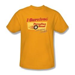 American Grafitti - Mens Paradise Road T-Shirt In Gold