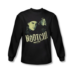 Mallrats - Mens Nootch Long Sleeve Shirt In Black