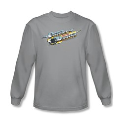Smokey And The Bandit - Mens Logo Long Sleeve Shirt In Silver