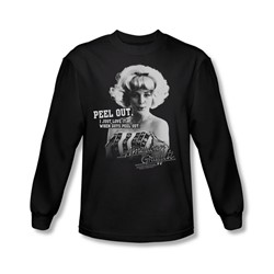 American Graffiti - Mens Peel Out Long Sleeve Shirt In Black