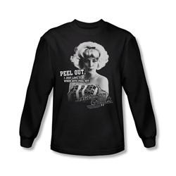 American Graffiti - Mens Peel Out Long Sleeve Shirt In Black