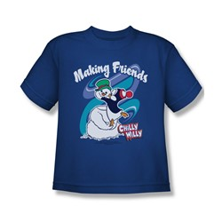 Chilly Willy - Big Boys Making Friends T-Shirt In Royal