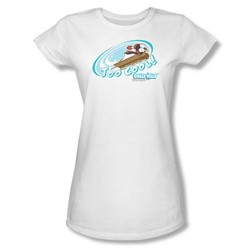 Chilly Willy - Womens Too Cool T-Shirt In White
