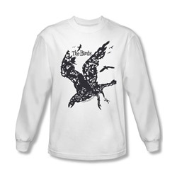 Birds - Mens Title Long Sleeve Shirt In White