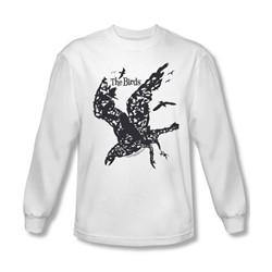 Birds - Mens Title Long Sleeve Shirt In White