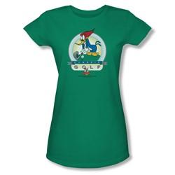 Woody Woodpecker - Womens Classic Golf T-Shirt In Kelly Green