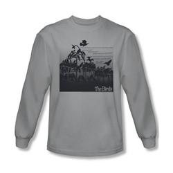 Birds - Mens Evil Long Sleeve Shirt In Silver