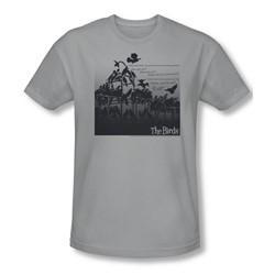 Birds - Mens Evil T-Shirt In Silver