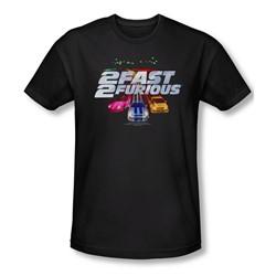 2 Fast 2 Furious - Mens Logo T-Shirt In Black