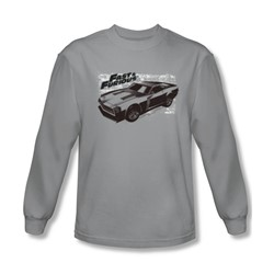 Fast & Furious - Mens Spray Car Long Sleeve Shirt In Silver