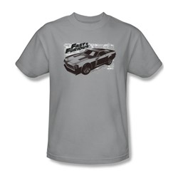 Fast & Furious - Mens Spray Car T-Shirt In Silver