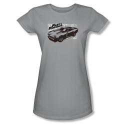 Fast & Furious - Womens Spray Car T-Shirt In Silver