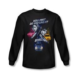 2 Fast 2 Furious - Mens Fast Women Long Sleeve Shirt In Black