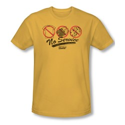 Fast Times Ridgemont High - Mens No Service T-Shirt In Gold