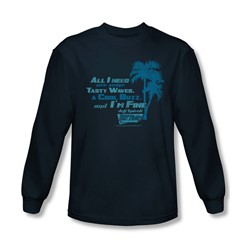 Fast Times Ridgemont High - Mens All I Need Long Sleeve Shirt In Navy