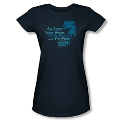 Fast Times Ridgemont High - Womens All I Need T-Shirt In Navy