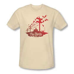 Birds - Mens On A Wire T-Shirt In Cream