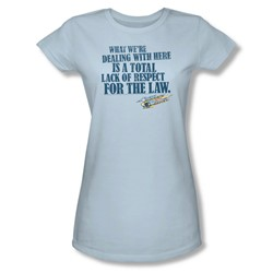 Smokey And The Bandit - Womens Lack Of Respect T-Shirt In Light Blue