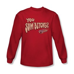 Smokey And The Bandit - Mens Sombitch Long Sleeve Shirt In Red
