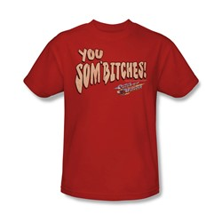 Smokey And The Bandit - Mens Sombitch T-Shirt In Red