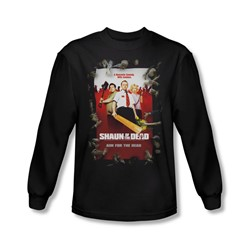 Shaun Of The Dead - Mens Poster Long Sleeve Shirt In Black