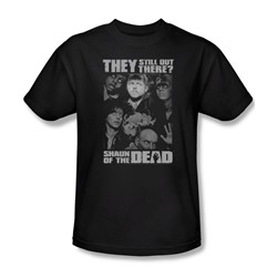 Shaun Of The Dead - Mens Still Out There T-Shirt In Black