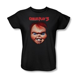 Childs Play 3 - Womens Chucky T-Shirt In Black