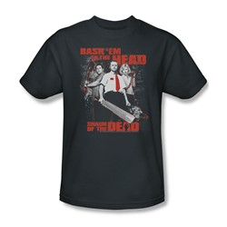Shaun Of The Dead - Mens Bash Em T-Shirt In Charcoal