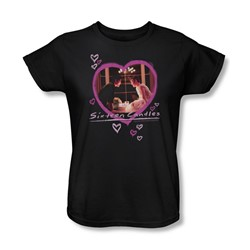 Sixteen Candles - Womens Candles T-Shirt In Black