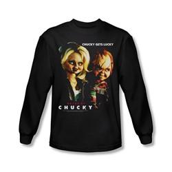 Bride Of Chucky - Mens Chucky Gets Lucky Long Sleeve Shirt In Black