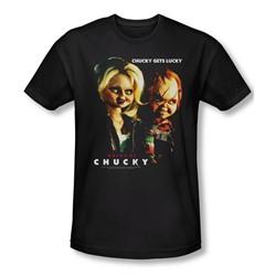 Bride Of Chucky - Mens Chucky Gets Lucky T-Shirt In Black